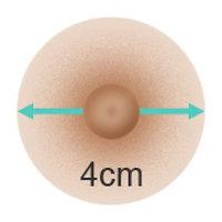Doll Forever - Größe der Brustwarzen ›4 cm‹