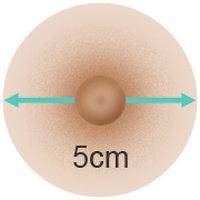 Doll Forever - Größe der Brustwarzen ›5 cm‹